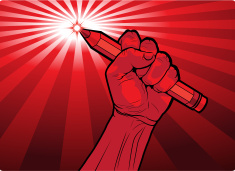 stock-illustration-44428310-fist-holding-a-pencil-with-a-fiery-point