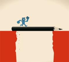 stock-illustration-64466419-happy-man-businessman-cross-the-cliff-with-big-black-pencil