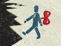 stock-illustration-22251494-clockwork-business-man-walking-towards-a-cliff-edge