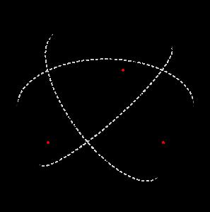 Um triângulo esférico